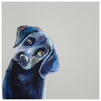 Best Friend - Curious Black Lab Wall Art