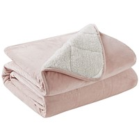 "Degrees of Comfort Weighted Throw Blanket Kids and Adult Size, Ultra Fuzzy & Soft Sherpa Weighted Blanket Throw - 10 Lbs 50x60 Blush 50x60"" 10lb"