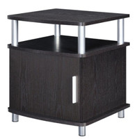 Carson End Table with Storage Compartment Living Room Furniture Espresso Finish