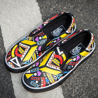 Trendsetter VANS Slip-On Ethnic Print Old Skool Flats Sneakers Sport Shoes