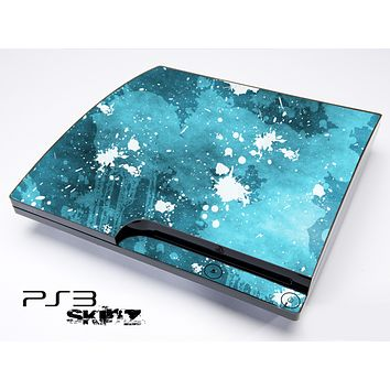 Blue Paint Splatter Skin for the Playstation 3