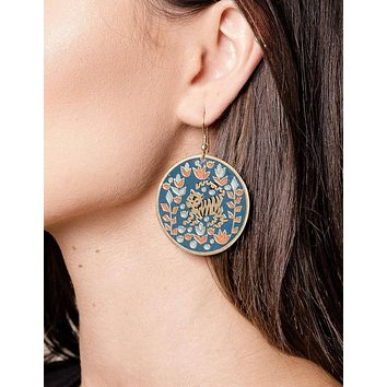 Fair Trade Mystic Tiger Earrings