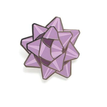 Bow Pin - Purple