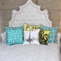 www.roomservicestore.com - Casablanca Headboard in White Tufted Faux Leather -  Headboard Only