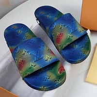 Louis Vuitton LV Lovers Gradient Letter Embroidered Home Slipper Sandals