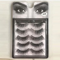 HUDA 5 Pairs Thick Long Handcrafts False Eyelashes [10968724172]