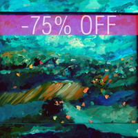 DISCOUNTED - An Original Acrylic Impressionistic Colourful Hungarian Landscape Painting by Kelli Gedvil!  35 x 28 cm (13,8 x 11 inches)