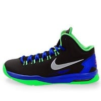 Youth (BOYS) Nike KD V Kevin Durant (GS) Basketball Shoes Black / Metallic Silver / PSN Green / Hyper Blue 555641-001 Size 7