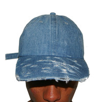 Vintage Culture Denim Distressed Dad Cap