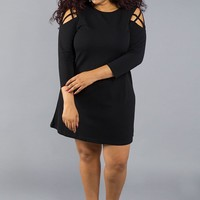 Cocktail Dress with Cold Shoulders Detail