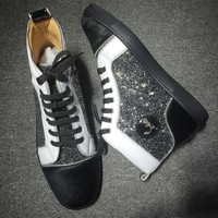 DCCK2 Cl Christian Louboutin Rhinestone Style #1935 Sneakers Fashion Shoes