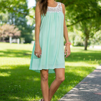 Double The Fun Dress, Mint