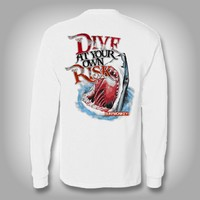 Dive at Your Own Risk - Performance Shirt - Fishing Shirt