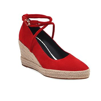 Women's Shallow Mouth Platform Wedge Sandals