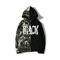 Camouflage Hats Patchwork Hoodies [412039446564]