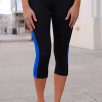Better Sore than Sorry Workout Capris - Royal