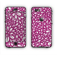 The Purple & White Floral Sprout Apple iPhone 6 Plus LifeProof Nuud Case Skin Set