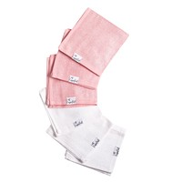 6 Ultra Soft Washcloths - Darling