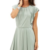 Pleated Chain-Detail Dress