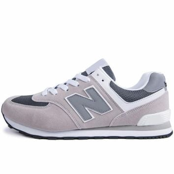 New Balance 2018 new trend casual couple models N word sports shoes grey