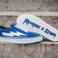 Revenge x Storm Old Skool Blue Skateboarding Shoe 35-44