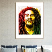 Bob Marley Reggae Rock poster painting poster music painting Home Wall Decor Painting