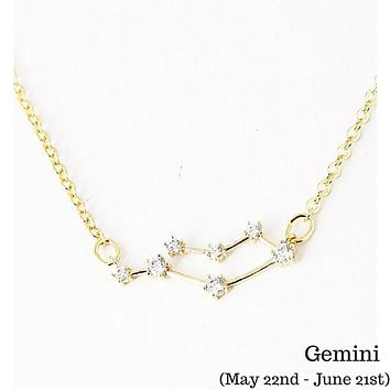 Gemini Constellation Zodiac Necklace - As seen in Real Simple, People Magazine & more