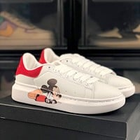 Alexander McQueen x DISNEY graffiti printed platform sneakers shoes