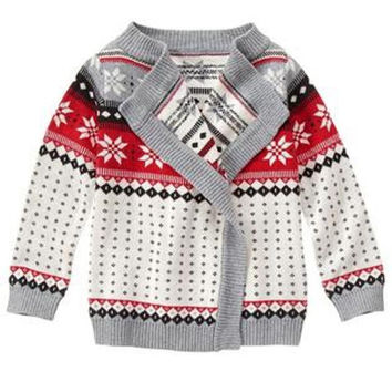 "Gymboree Holiday Buttonless Cardigan - Girls Size:M(7-8) Height:48-54""/122-137cm"
