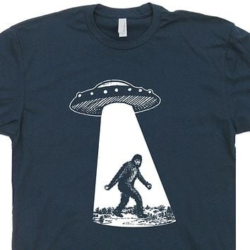 Bigfoot UFO T Shirt Sasquatch Alien Abduction Shirt Area 51 Shirt Cryptozoology Tee
