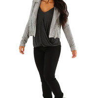 Step Into My World Jacket: Heather Gray