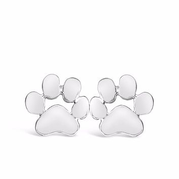 Dog Paw Print Stud Earrings for all Dog Lovers