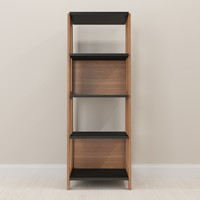 Wood Home Office Bookcase Hanover/Black