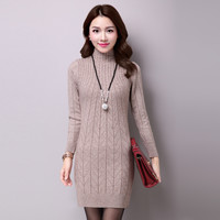 New 2016 autumn and winter High elasticity solid color warm knitted cashmere sweater women chompas mujer fashion pullovers