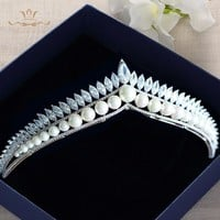 Zircon  Evening European Pearl  Tiara