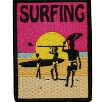 Surfing Board Embroidered Iron On Applique Patch P3995