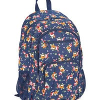 Aeropostale  Womens Roses Canvas Backpack - Blue