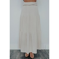 Lost In A Dream Skirt: Beige