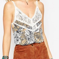 ASOS Cami Top with Lace and Floral Print