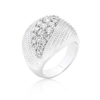 Classic Cubic Zirconia Dome Ring, size : 05