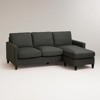 Charcoal Abbott Sofa - World Market