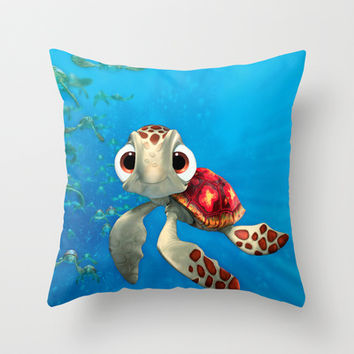 Squirt Throw Pillow by Max Jones