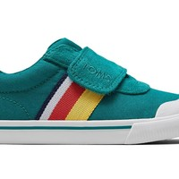 TOMS - Tiny Toms Greenlake Striped Canvas Doheny Sneakers