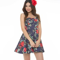 Marilyn Floral Pin Up Style Dress