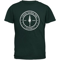 Sequoia National Park Forest Green Youth T-Shirt