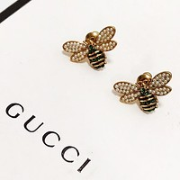 GUCCI New fashion diamond pearl bee earring accessories