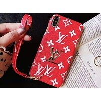 Louis vuitton is selling casual women's mobile phone cases with fashionable color printing and gold label hanging rope Iphone cases #3