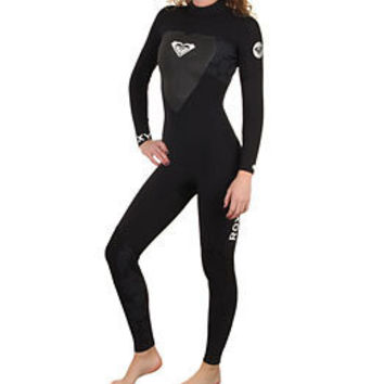 Roxy Women's Syncro 3/2mm L/S Back Zip Full Wetsuit at SwimOutlet.com - Free Shipping