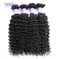 Online Shop Malaysian Deep Wave Malaysian Virgin Hair 4 Bundles7A Unprocessed Human Hair Weave Malaysian Curly Hair Iwish Kinky Curly Weave | Aliexpress Mobile