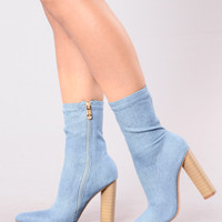 King Of Me Boot - Denim